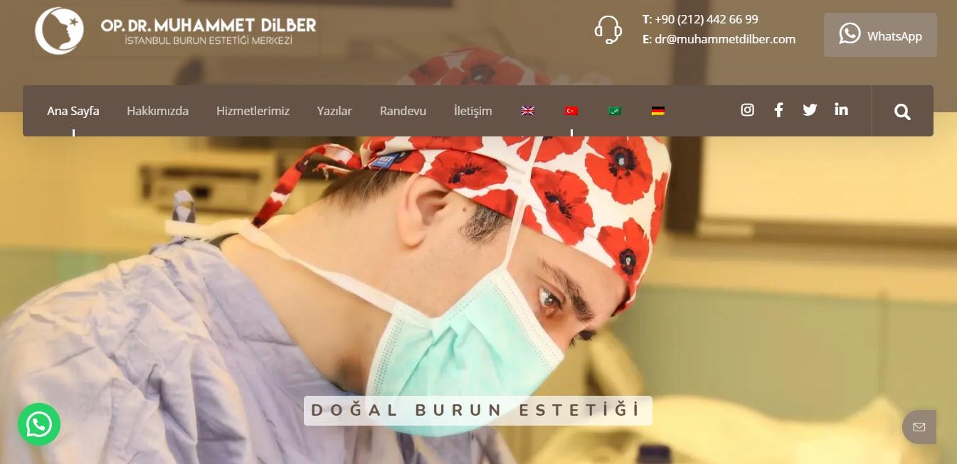 Op. Dr. Muhammet Dilber – Burun Estetiği